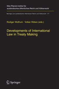 Developments of International Law in Treaty Making