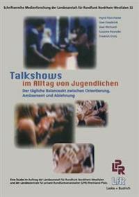 Talkshows Im Alltag Von Jugendlichen