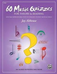 60 Music Quizzes for Theory and Reading: One-Page Reproducible Tests to Evaluate Student Musical Skills, Comb Bound Book