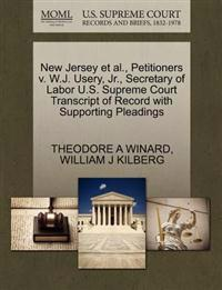 New Jersey et al., Petitioners V. W.J. Usery, JR., Secretary of Labor U.S. Supreme Court Transcript of Record with Supporting Pleadings