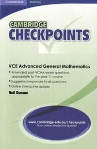 Cambridge Checkpoints VCE Advanced General Maths Units 1and 2