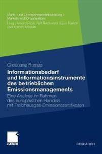 Systematisierung Des Informationsbedarfs Sowie Analyse Moglicher Informationsinstrumente Fur Das Betriebliche Emissionsmanagement