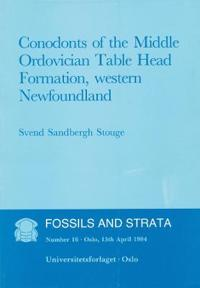 Fossils and Strata, Conodonts of the Middle Ordovician Table Head Formation, Western Newfoundland