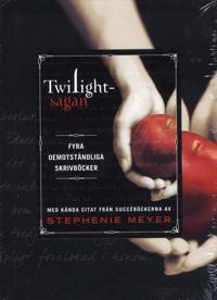 Twilightsagan : fyra oemotståndliga skrivböcker med kända citat från succéböckerna