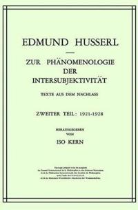 Zur Phanomenologie Der Intersubjektivitat