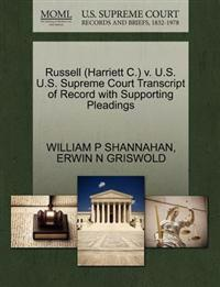 Russell (Harriett C.) V. U.S. U.S. Supreme Court Transcript of Record with Supporting Pleadings