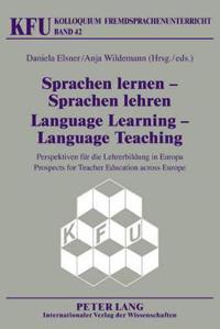 Sprachen Lernen-Sprachen Lehren / Language Learning-Language Teaching
