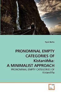 Pronominal Empty Categories of Kistani a