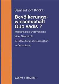 Bevolkerungswissenschaft - Quo Vadis?