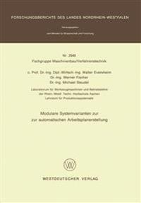Modulare Systemvarianten Zur Automatischen Arbeitsplanerstellung