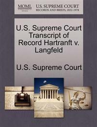 U.S. Supreme Court Transcript of Record Hartranft V. Langfeld
