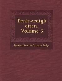 Denkw Rdigkeiten, Volume 3