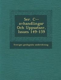 Ser. C--avhandlingar Och Uppsatser, Issues 149-159