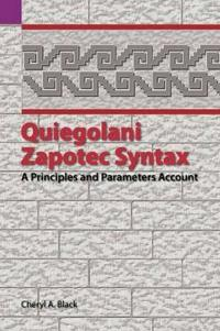 Quiegolani Zapotec Syntax