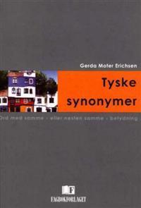Tyske synonymer - Gerda Moter Erichsen pdf epub