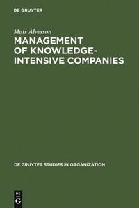 Management of Knowledge-Intensive Companies