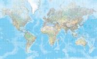 Världen 1:20milj Väggkarta i tub Hallwag : 1:20milj