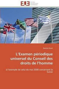L Examen P�riodique Universel Du Conseil Des Droits de L Homme