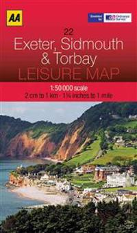 Aa Exeter, Sidmouth & Torbay Leisure Map