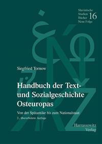 Handbuch der Text- und Sozialgeschichte Osteuropas