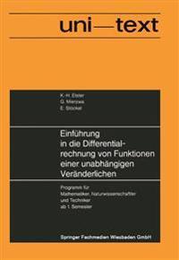 Einführung in Die Differentialrechnung Von Funktionen Einer Unabhängigen Veränderlichen