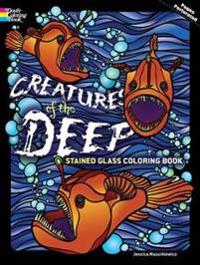 Creatures of the Deep Stained Glass Coloring Book