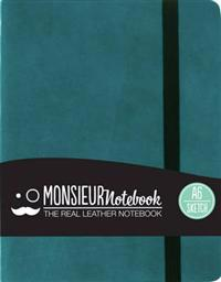 Monsieur Notebook Real Leather A6 Turquoise Sketch
