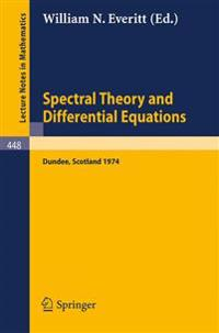 Spectral Theory and Differential Equations