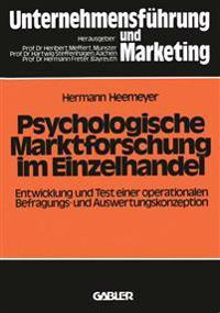 Psychologische Marktforschung Im Einzelhandel