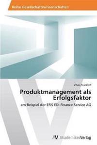 Produktmanagement ALS Erfolgsfaktor