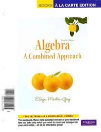 Algebra: A Combined Approach, Books a la Carte Plus MML/Msl Student Access Code Card (for Ad Hoc Valuepacks)
