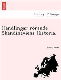 Handlingar Ro Rande Skandinaviens Historia. - Anonymous pdf epub