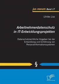 Arbeitnehmerdatenschutz in It-Entwicklungsprojekten