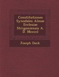 Constitutiones Synodales Almae Ecclesiae Strigoniensis A. D. Mccccl