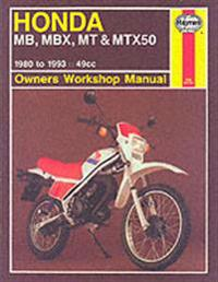 Honda mb, mbx, mt and mtx50 owners workshop manual