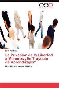 La Privacion de la Libertad a Menores Es Trayecto de Aprendizajes?