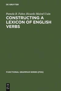 Constructing a Lexicon of English Verbs