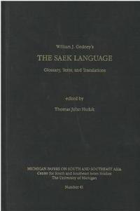 William J. Gedney's the Saek Language