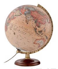Karttapallo ATMO, 30 cm, A4/SF, A4/pähkinä/metalli/antiikki/valo
