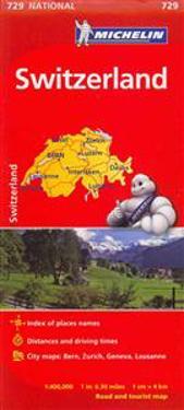 Michelin Switzerland Map 729