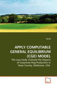 Apply Computable General Equilibrium (Cge) Model