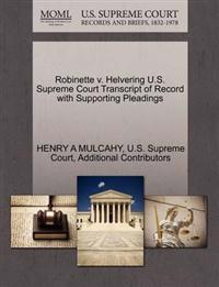 Robinette V. Helvering U.S. Supreme Court Transcript of Record with Supporting Pleadings