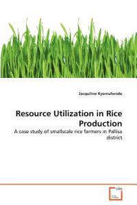 Resource Utilization in Rice Production