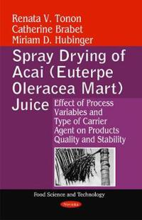 Spray Drying of Acai Euterpe Oleracea Mart Juice