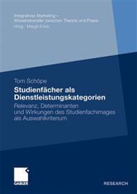 Studienfächer Als Dienstleistungskategorien