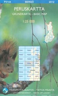 Peruskartta P3144 Bergö 1:25 000