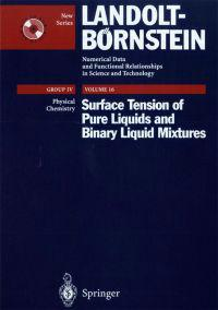 Surface Tension of Pure Liquids and Binary Liquid Mixtures