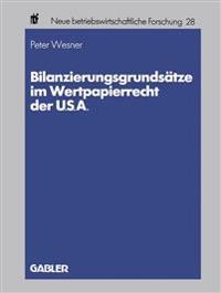 Bilanzierungsgrundsätze Im Wertpapierrecht Der U.s.a.