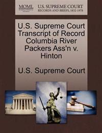 U.S. Supreme Court Transcript of Record Columbia River Packers Ass'n V. Hinton