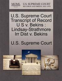 U.S. Supreme Court Transcript of Record U S V. Bekins